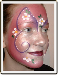 face paint sample